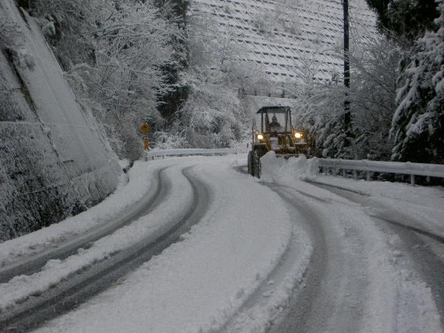 川根本町東藤川の雪景色(川根本町)